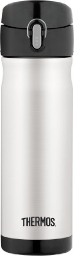 Thermos 16 Ounce Stainless Steel Commuter Bottle, Stainless Steel