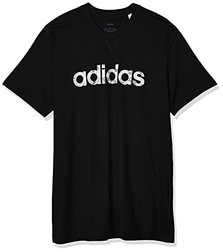 adidas E Camo Lin Tee T-Shirt, Uomo, Black/White/Grey One F17/Grey Three F17, S
