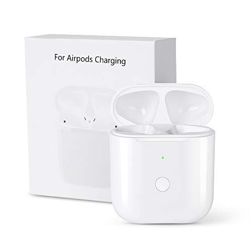 Airpods Schutzhülle Mit Ladefunktion, Vou Tiger Hülle zum kabellosen Aufladen für Apple Kopfhörer, Apple Earpods Ladegerät, Ersatz für kabelloses Ladecase - Weiß