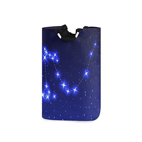 MUYIXUAN Wäschesack Sternbild Drachen Nacht Sternenhimmel Vektor Großer Faltbarer Wäschekorb,zusammenklappbarer Wäschekorb,zusammenklappbarer Waschvorratsbehälter