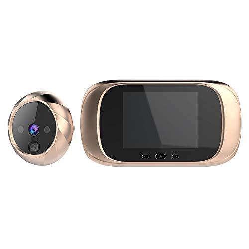 YIYIO CáMara del Timbre C03, CáMara de Vigilancia Multifuncional de la Puerta de la Mirilla Pantalla LCD Seguridad para el Hogar