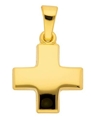 Ciondolo a forma di croce in oro giallo 585 (11,2 x 11,2 mm)