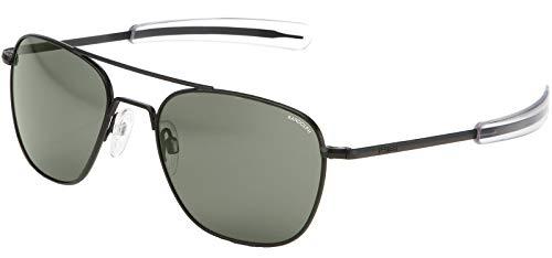 Randolph Engineering Sunglasses Aviator AF016 Black Matt AGX Glass 52 NEW
