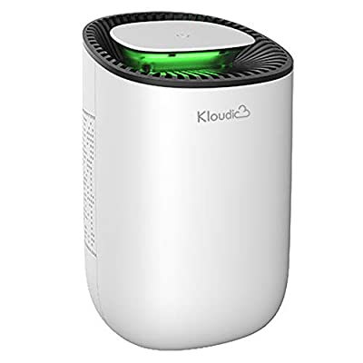 KLOUDIC Dehumidifier 600ml Portable Mini Electric Dehumidifier Ultra Quiet Air Cleaner for Home, Kitchen, Garage, Wardrobe, Basement