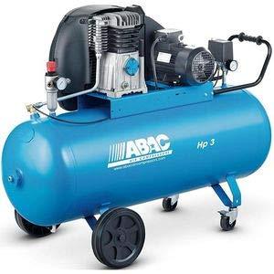 puissant Compresseur d'air alternatif double cylindre basse vitesse en fonte 100 litres ABAC