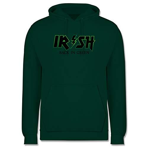 St. Patricks Day - Irish Back in Green - schwarz/grün - L - Dunkelgrün - st. Patricks Day Herren - JH001 - Herren Hoodie und Kapuzenpullover für Männer