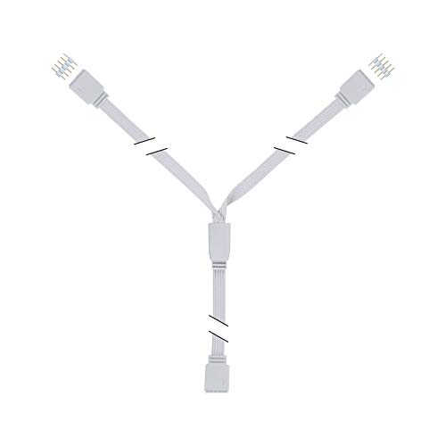 Paulmann 79813 Stripe MaxLED Y-Splitter 1 zu 2 Verteilung 30 cm max. 144 Watt Lichtband Weiß Lichtstreifen Kunststoff LED Band