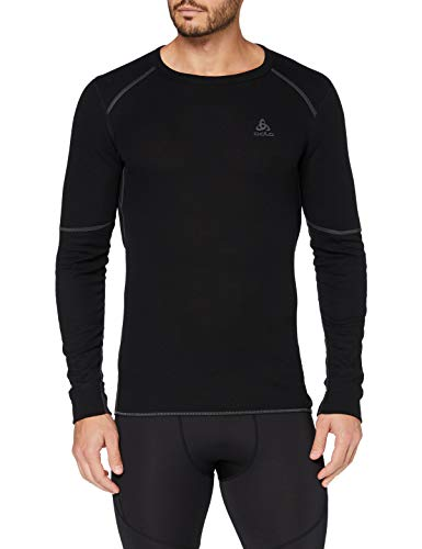 ODLO Damen Shirt Long Sleeve Crew Neck X-Warm Unterhemd, black, XS