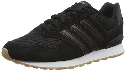 adidas Herren 10K Laufschuhe, Schwarz (Core Black/Core Black/FTWR White Core Black/Core Black/FTWR White), 44 2/3 EU