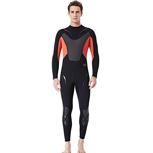 KOIJWWF Ganzkörper-Männer 3mm Neopren-Neoprenanzug Surfen Schwimmen Tauchanzug Triathlon Nassanzug für kaltes Wasser Scuba Schnorcheln Speerfischen,Rot,XXL