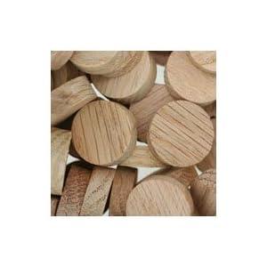 Face Grain WIDGETCO 1//4 Oak Wood Plugs