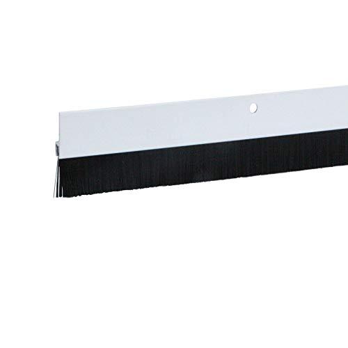 1 x Türdichtung / Türbürste aus Aluminium (weiss, 1m, 1 Stück)