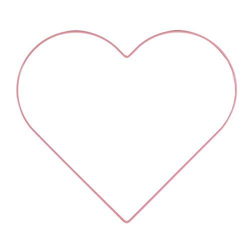 Vaessen Creative Metal en Forma de Corazón, Rosa Claro, 32 cm x 3 mm, para Manualidades, Aro Atrapasueños, Anillo de Guirnalda para Tapiz de Macramé, Ganchillo y Decoraciones Nupciales, 32 cm