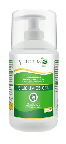 Silicium G5 Gel. celle di silicio con la vitamina E stimola la produzione di collagene. Gel corpo per dolori articolari, muscolari e delle ossa, anche rigenera e rassoda la pelle. 500 Ml.