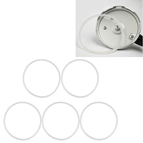 Pressure Cooker Silicone Ring, Flexible Pressure Cooker Silicone Gasket 5PCS for Pressure Cooker Lid for Pressure Cooker(24cm)