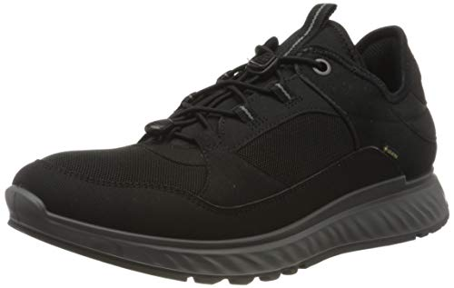 Ecco Herren EXOSTRIDEM Sneaker, Schwarz (Black 1), 43 EU