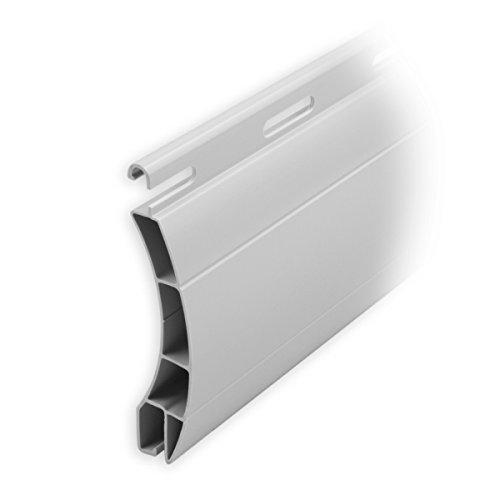 DIWARO Kunststoff Rolladen Ersatzlamellen, Profil Ulm, Deckbreite 55mm Nenndicke 14,7mm, Fixlänge 2000mm in der Farbe grau (Profil Ulm | Farbe Grau | Länge 2000mm)