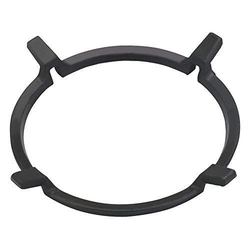 MONSIVILIA Universal Stove Rack Stovetop Stand Non Slip Black Cast Iron Wok Ring Wok Support Ring Wok Ring for Kitchen Wok Gas Hob