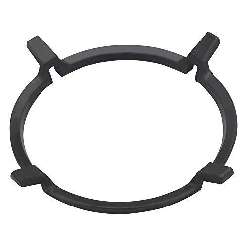 MONSIVILIA Universal Stove Rack Stovetop Stand Non Slip Black Cast Iron Wok Ring Wok Support Ring Wok Ring for Kitchen Wok Gas Hob