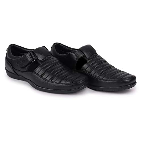 BATA Black Fashion Sandal for Men