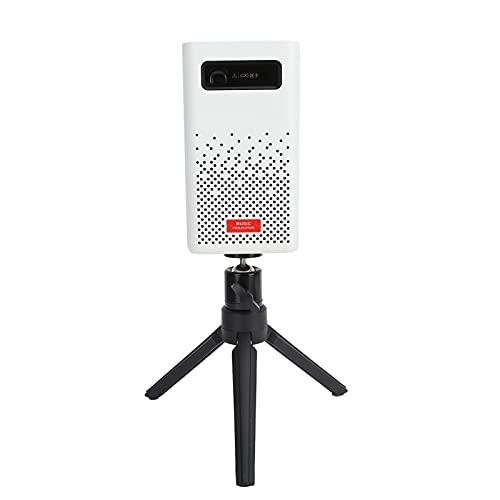 Proyector portátil, proyector 4K DLP con soporte para trípode y control remoto, admite proyección frontal, proyección trasera y proyección de techo, para entretenimiento en el hogar al aire libre(EU)