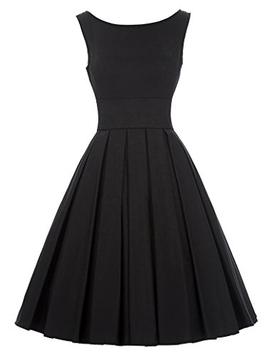 Audrey Hepburn Vintage Black Cocktail Party Dress