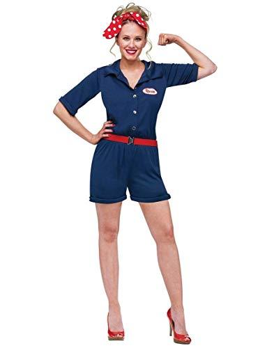 Fun World Women's Rosie The Riveter Adult Costume, Multi, Small/Medium