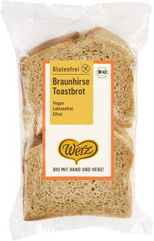 Werz Bio Braunhirse-Toastbrot glf. (6 x 250 gr)
