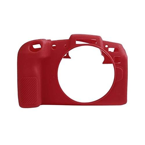 Lsmaa Funda Protectora de Silicona Cubierta del Cuerpo de Ajuste for la cámara Canon EOS RP, la Piel del capítulo A Prueba de Polvo de Goma Suave del Protector (Colour : Red)