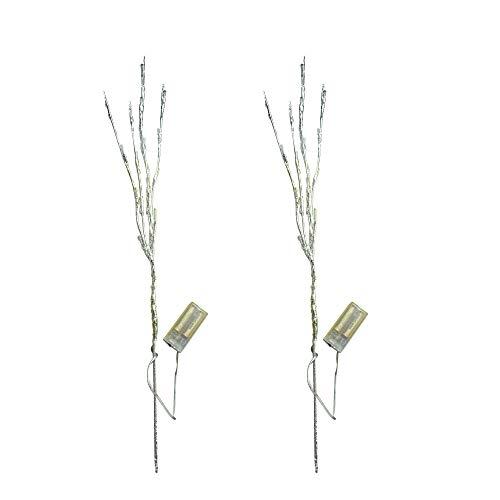 Sobotoo Zweiglichter – batteriebetriebene LED-Lichter aus Weidenzweig, beleuchteter Zweig, Baumlichter für Halloween, Weihnachten, Thanksgiving, Dekoration, 2 Stück