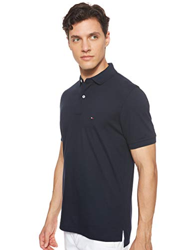 Tommy Hilfiger Herren CORE Tommy Regular Polo Poloshirt, Blau (Sky Captain 403), Large