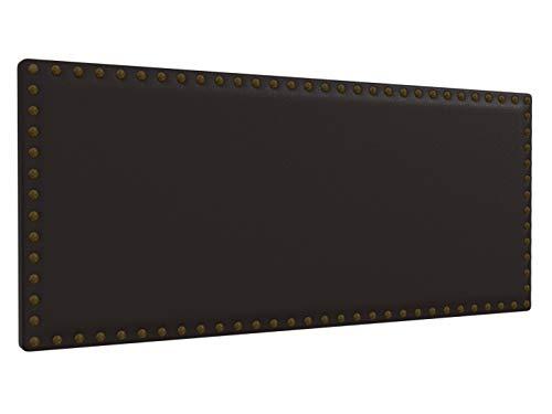 LA WEB DEL COLCHON - Cabecero tapizado Tachuelas para Cama de 150 (160 x 70 cms) Chocolate | Cama Juvenil | Cama Matrimonio | Cabezal Cama |