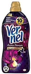 Vernel Aroma-Therapie Patschuli-Öl & lila Orchidee, Weichspüler, 396 (6 x 66) Waschladungen, für einen langanhaltenden Duft