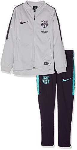 Nike Kinder FC Barcelona Dry Squad Trainingsanzug, Wolf Grey/Purple Dynasty, L