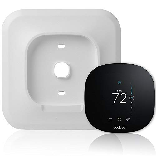 Wall Plate Bracket Cover for Ecobee3 lite Smart Wi-Fi Thermostat (White) (Renewed)