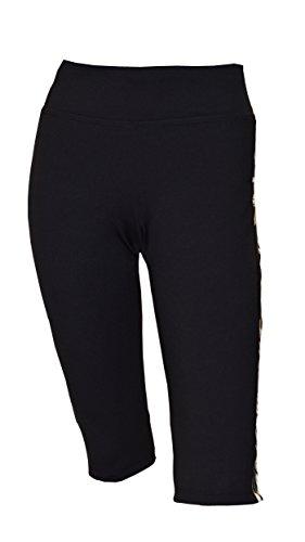 Private Island Women UPF 50+ Beach Board Shorts Pants Swimsuit Bathing Swim Rash Guard Yoga Bottom (XXL, Black Pc)