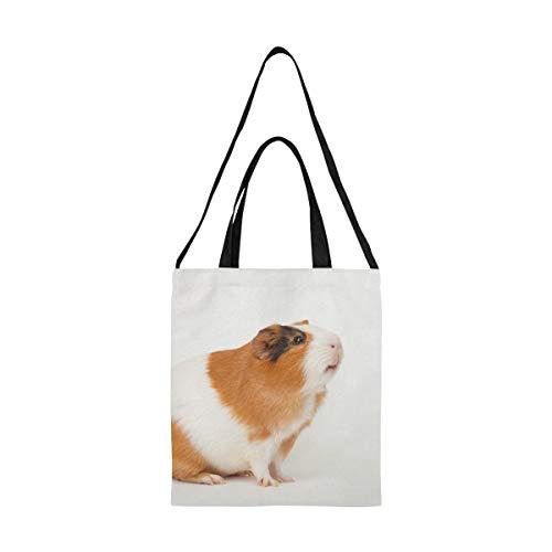 Tasche für Babykleidung Kawaii Niedliches Meerschweinchen Family Shop Einkaufstasche Männer Leinwand Umhängetasche Druck Große Größe Einfache Schulter Umhängeband Arbeit Schule Shopper