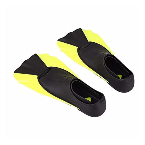BOJSQ Aletas de Buceo Aletas Cortas para niños Snorkeling Natación de Buceo Entrenamiento Portátil Portátil Zapatos de Rana Corta Natación Aletas de natación Transiner (Color : Yellow, Size : L)