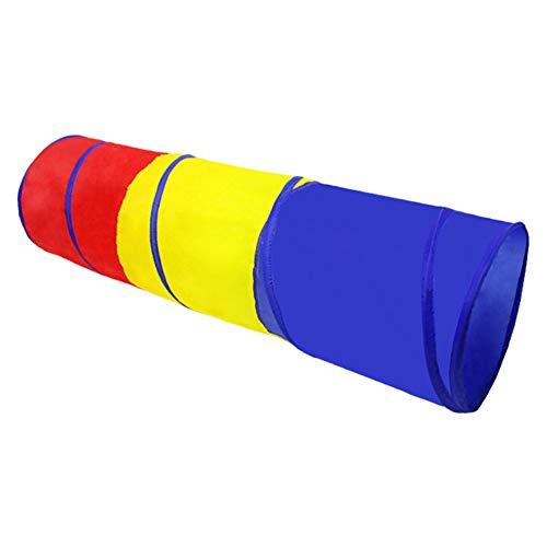 GuoCu Pop up Tentes de Tunnel Tube Pliable Tunnel de Crawl Ramper Jeux Tente Ultralight pour Enfants Bébé à l'intérieur et à l'extérieur Bleu one size