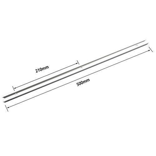 belupai 500mm T-Schiene T-Nut Gehrungsschiene Jig T Schraubenbefestigungsnut 19x9,5mm für Tischsäge Router Tisch Holzbearbeitungswerkzeug