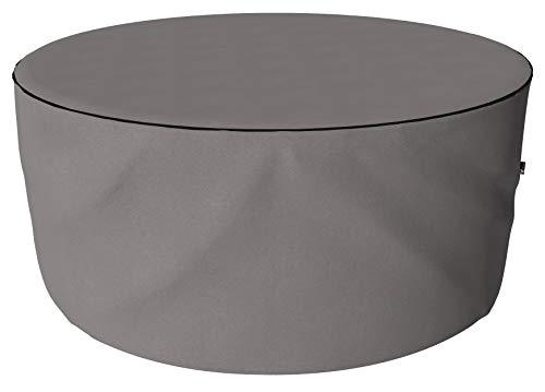 SORARA Housse de Protection Hydrofuge pour Table Ronde | Gris | Ø 213 x 90 cm