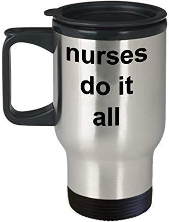 Gifts For Her Queen54ferna Great Nursing Gift Nurse Get It Done 14 Oz Travel Mug