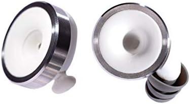 Knops Knurled Black Protezione per le orecchie con 4 diverse regolazioni di filtro