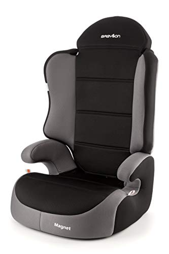 Babylon Magnet Autokindersitz Gruppe 2/3, 15-36kg Kindersitz Autositz Einstellbare Kopfstütze ECE R44/04 Grau