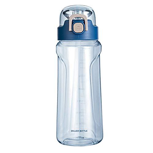 Botella De Agua Deportiva con Pajitas 1100 Ml Escuela De Estudiante Adecuada para Ciclismo Y Fitness, A Prueba De Fugas, Libre De BPa Y Sin Olor(Color:Azul)