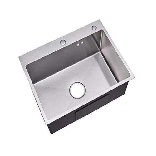 Affordable Stainless Steel Kitchen Sink Single Bowl, 550mm X 450mm Sink Only 49PPZYXXX