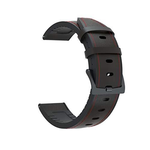 Correa de cuero de silicona para Haylou Solar LS05 Reloj inteligente Pulsera para XiaoMi Haylou Solar Watchband