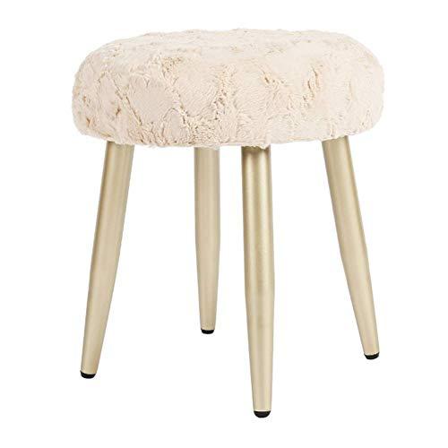 YLCJ kruk, kruk, voetensteun, kruk, meubel, bekleed (kleur: camelwit, maat: goudkleurig) Champagne feet Light Camel