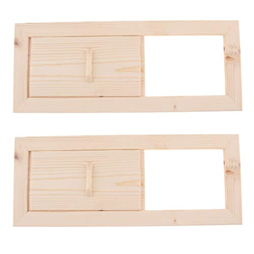 HomeDecTime 2x Sauna Lüftungsschieber Saunabelüftung Lüftungsgitter mit Schieber Holz