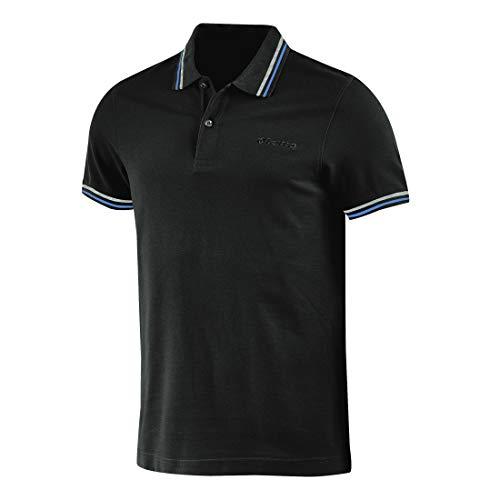 Lotto Polo Uomo T-Shirt Piquet Cotone Mare Tennis Barca Calcio Sport L73 PQ I (1SV Ebony/Granada Blue, XXL)